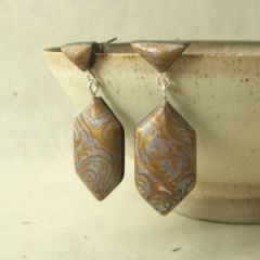 silver and gold art deco earrings