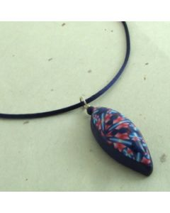 pink and blue kaleidoscope pendant necklace