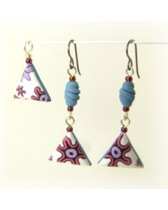 long quirky polymer clay earrings